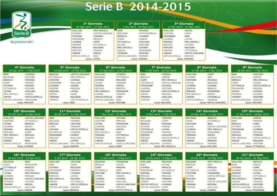 Calendario Serie B Bari.Pro Varato Il Calendario Di Serie B Si Parte Da Avellino