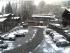 Neve sul piazzale delle funivie di Alagna questa mattina alle 8,30